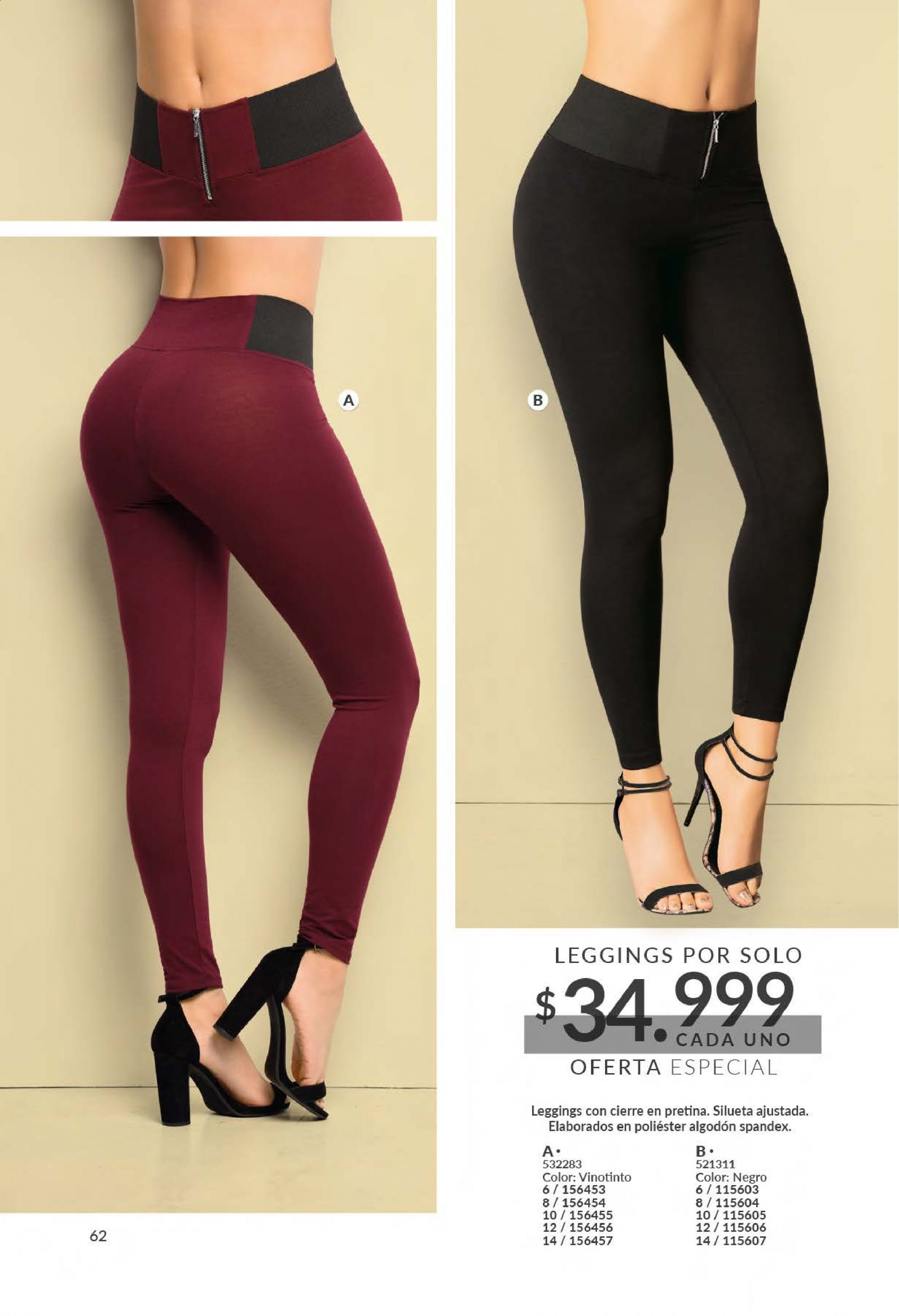 Folleto actual Carmel - Ventas - leggings. Página 64.