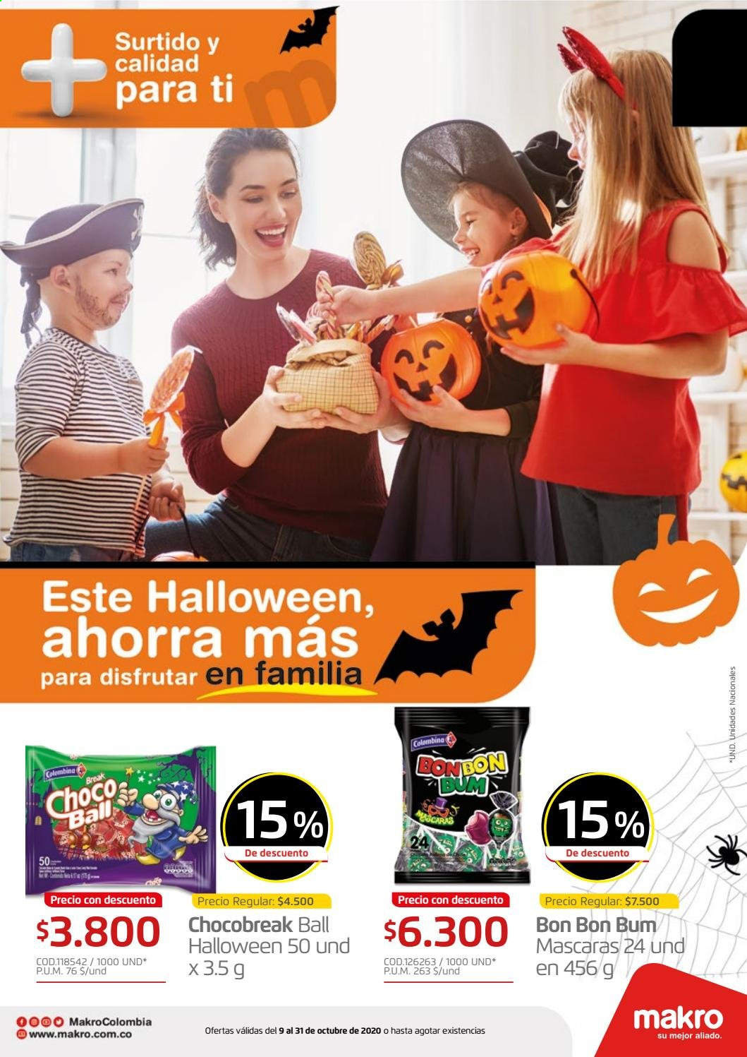 Folleto actual Makro - 10.09.2020 - 10.31.2020 - Ventas - máscara, choco, surtido. Página 1.