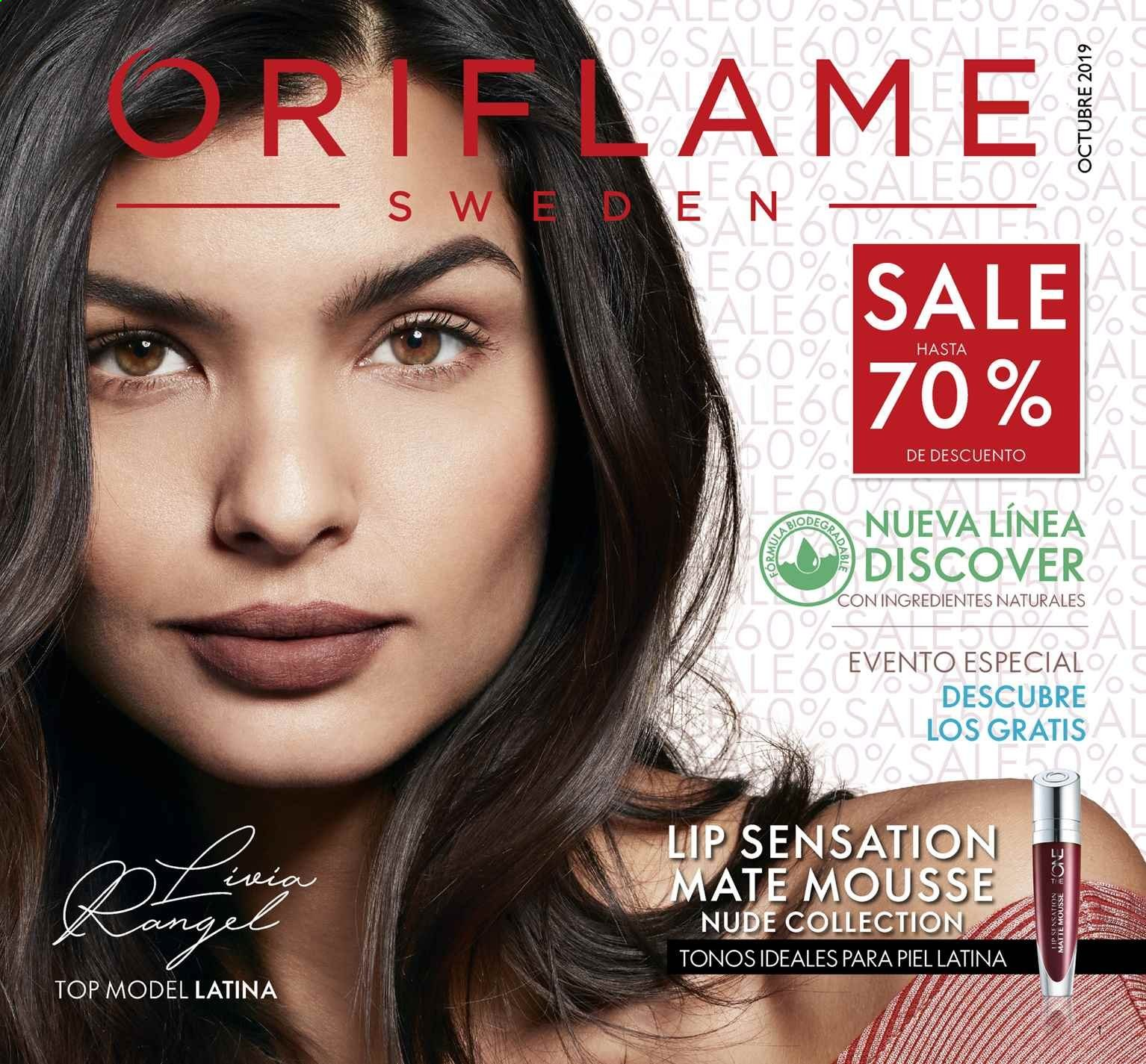 Folleto actual Oriflame - 2.10.2019 - 31.10.2019 - Ventas - mate, sal, mousse. Página 1.