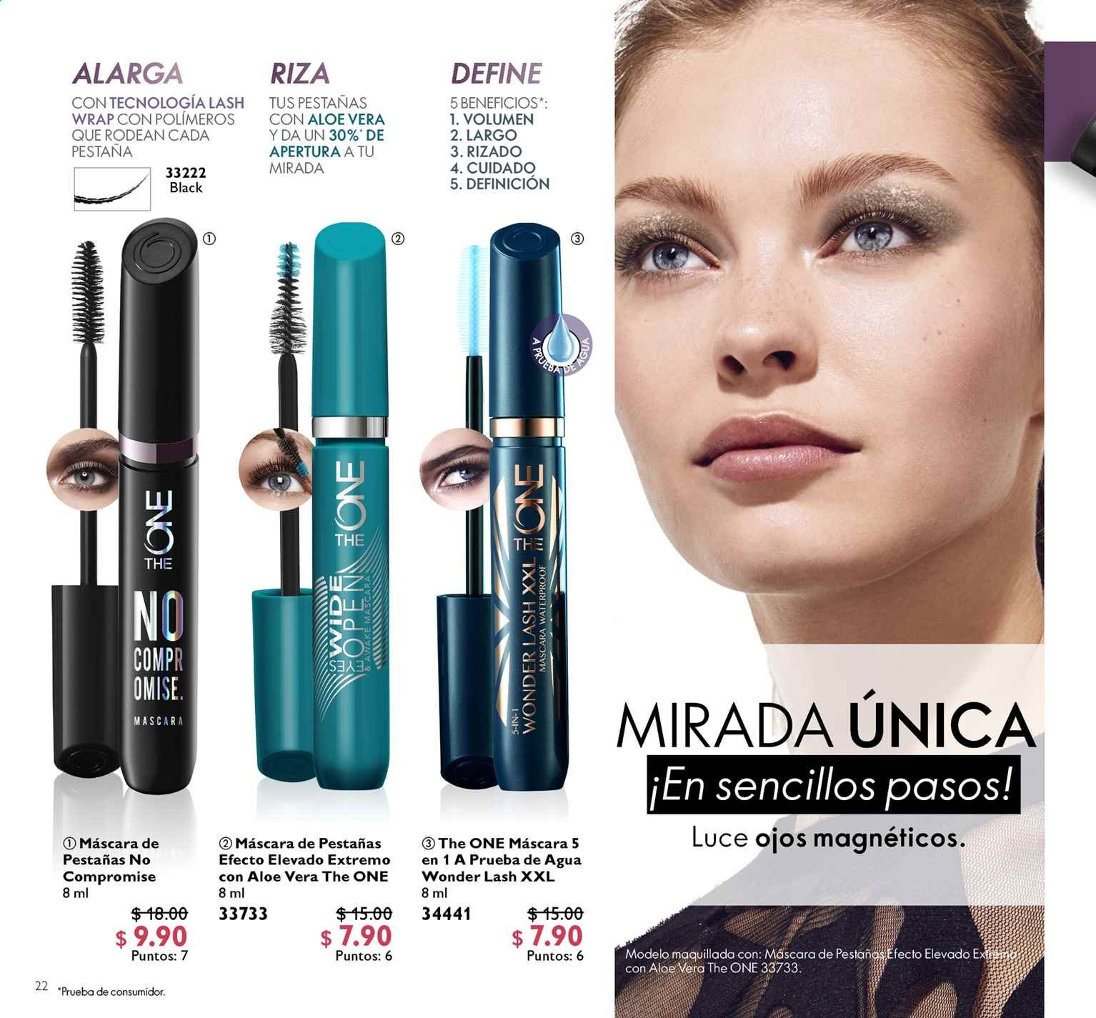 Folleto actual Oriflame - 2.10.2019 - 31.10.2019 - Ventas - máscara, aloe vera, the one, pestañas. Página 22.