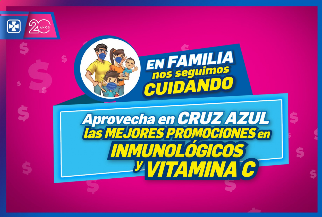 Folleto actual Farmacias Cruz Azul - Ventas - vitamina c. Página 1.