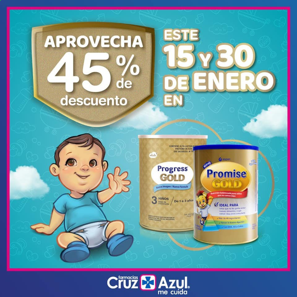 Folleto actual Farmacias Cruz Azul - 18.1.2021 - 25.1.2021 - Ventas - alfa, proteina. Página 1.