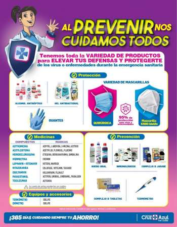 Folleto actual Farmacias Cruz Azul.