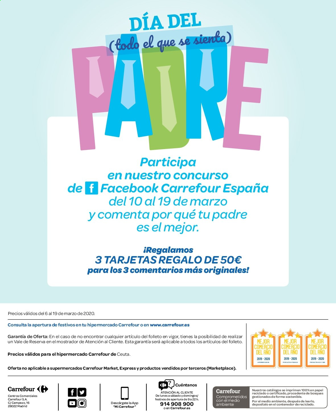 Folleto vigente Carrefour  - 6.3.2019 - 19.3.2020. Página 24.