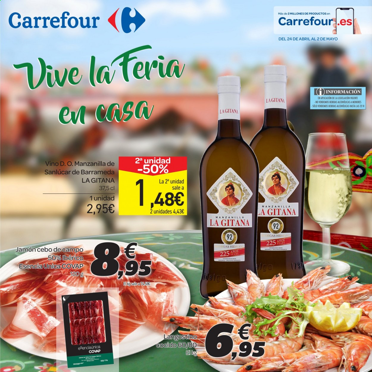Folleto vigente Carrefour  - 24.4.2020 - 2.5.2020. Página 1.