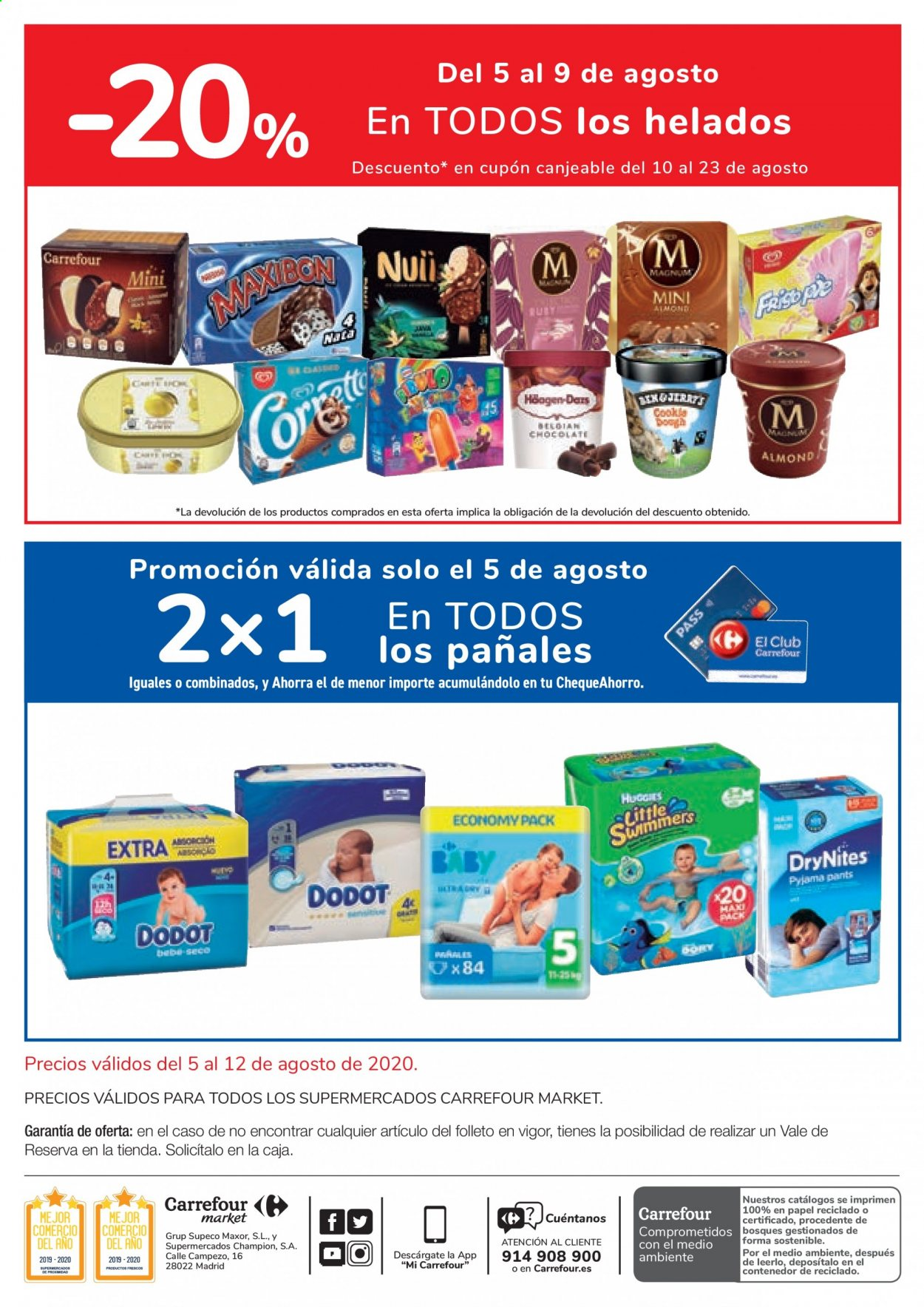 Folleto vigente Carrefour  - 5.8.2020 - 12.8.2020. Página 2.