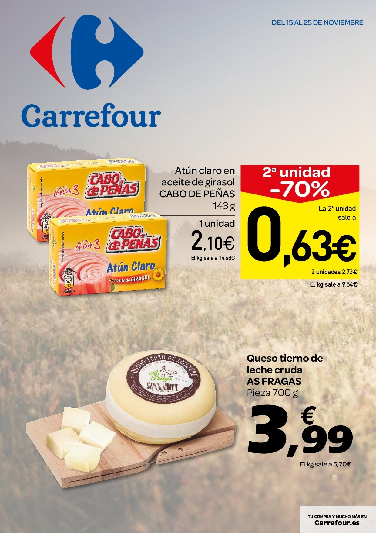 Folleto vigente Carrefour  - 15.11.2018 - 25.11.2018. Página 1.