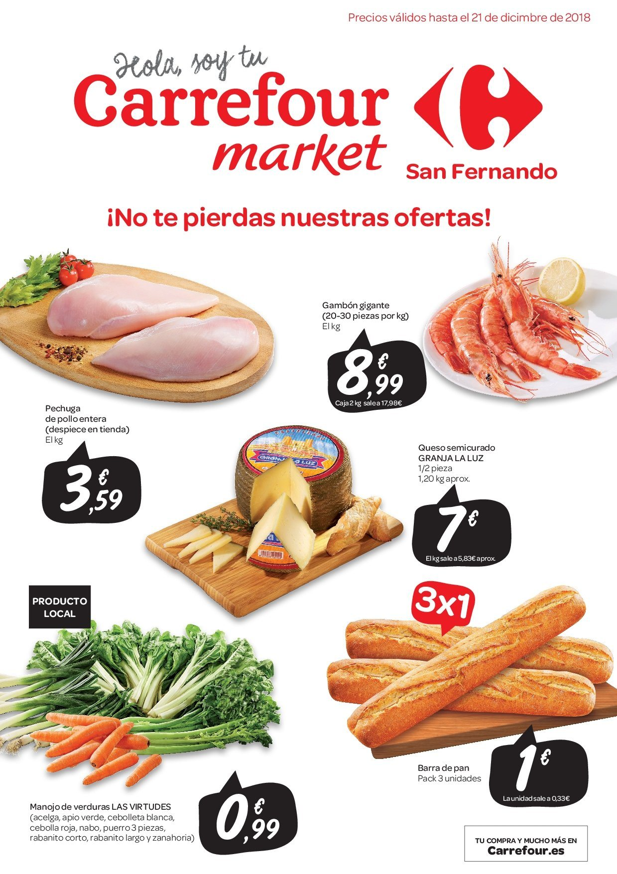 Folleto vigente Carrefour  - 5.12.2018 - 21.12.2018. Página 1.