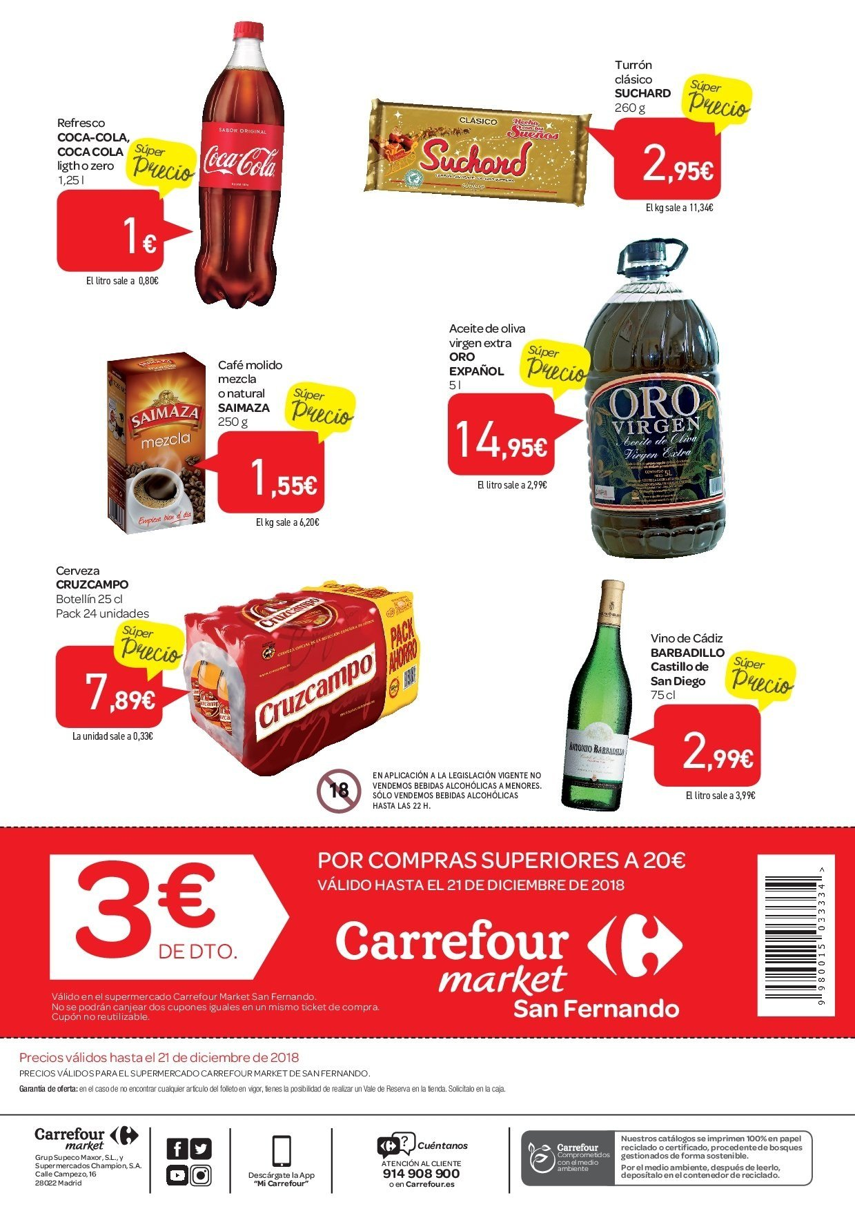 Folleto vigente Carrefour  - 5.12.2018 - 21.12.2018. Página 2.