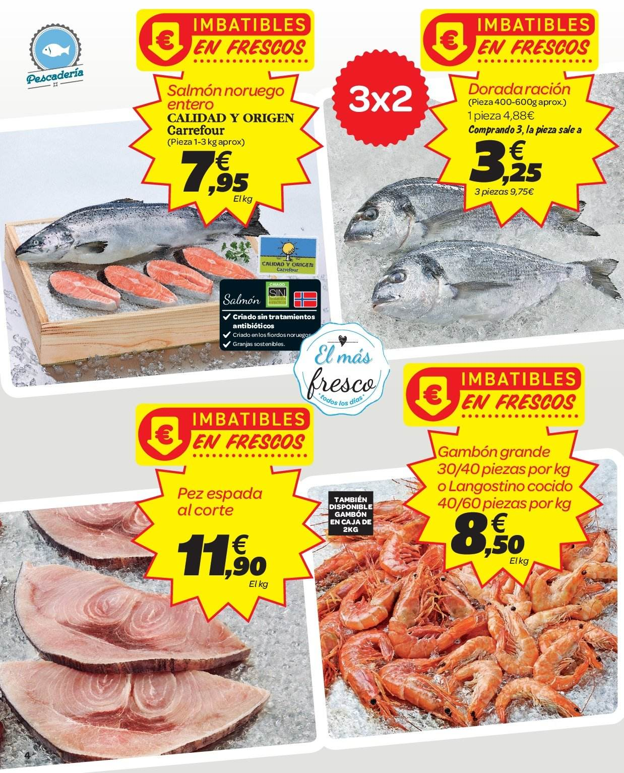 Folleto vigente Carrefour  - 2.1.2019 - 9.1.2019. Página 4.