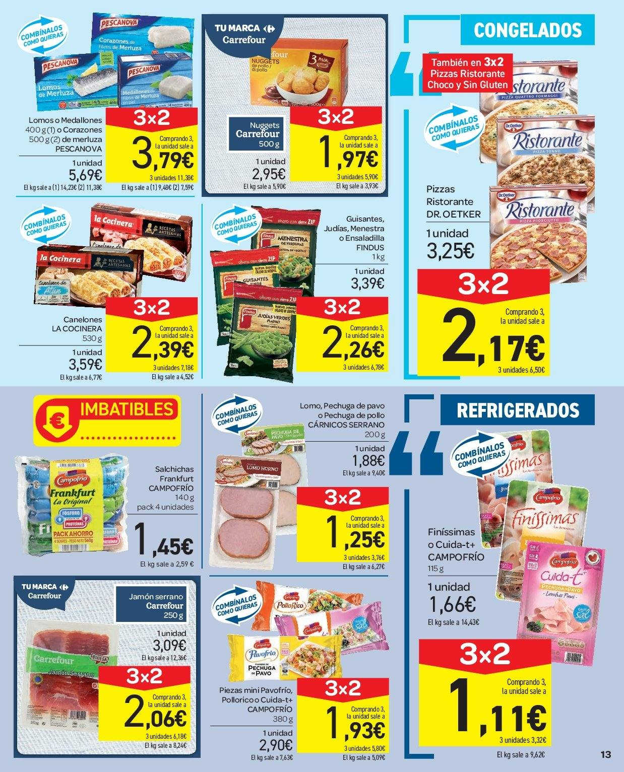 Folleto vigente Carrefour  - 2.1.2019 - 9.1.2019. Página 13.