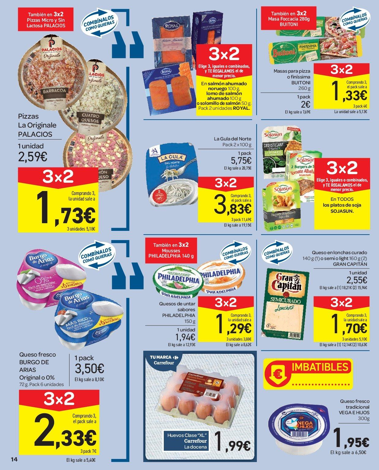 Folleto vigente Carrefour  - 2.1.2019 - 9.1.2019. Página 14.