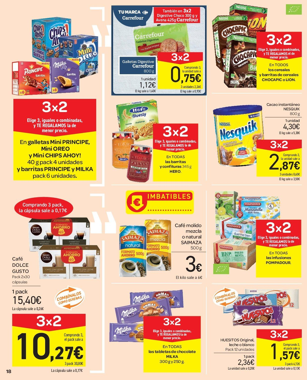 Folleto vigente Carrefour  - 2.1.2019 - 9.1.2019. Página 18.