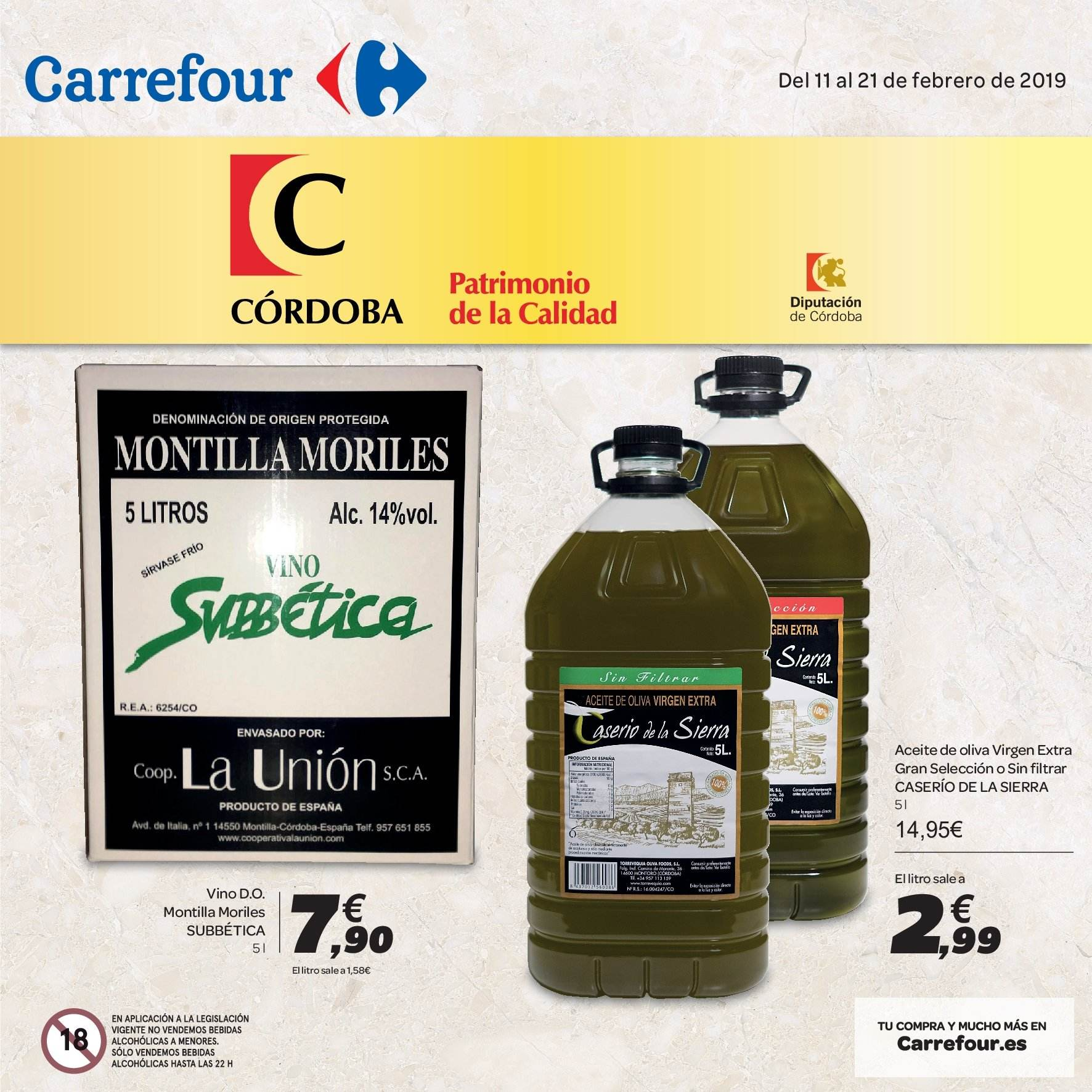 Folleto vigente Carrefour  - 11.2.2019 - 21.2.2019. Página 1.