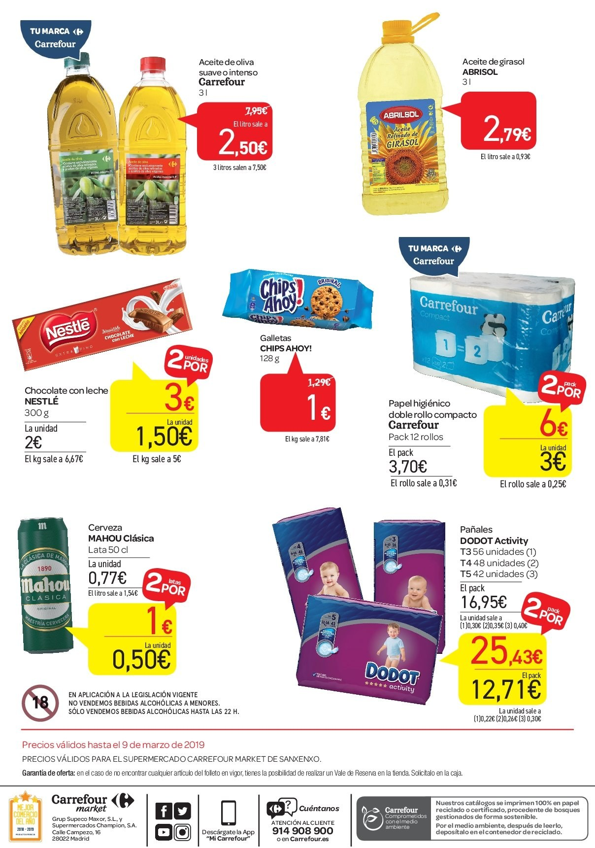 Folleto vigente Carrefour  - 25.2.2019 - 9.3.2019. Página 2.