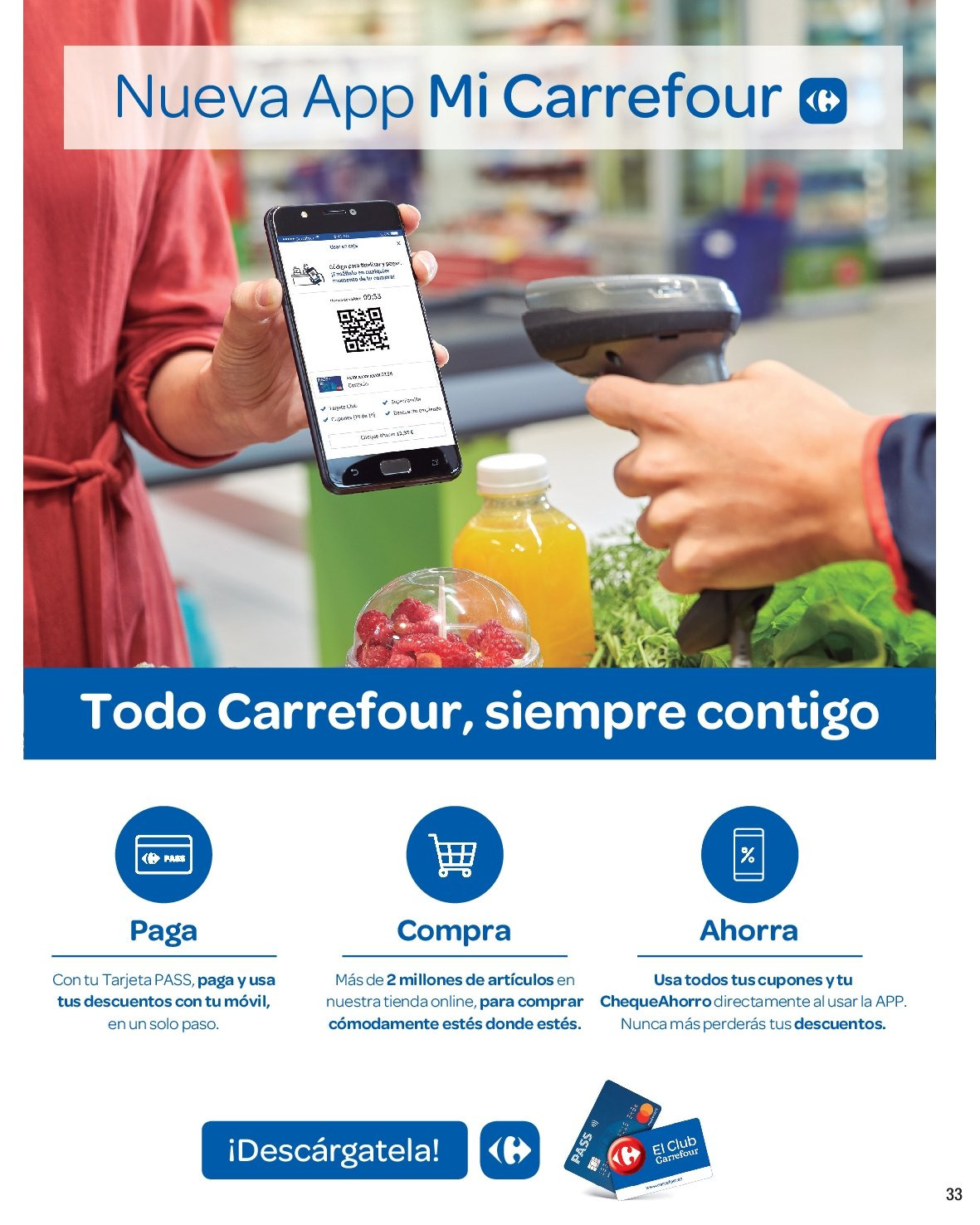 Folleto vigente Carrefour  - 8.3.2019 - 19.3.2019. Página 33.