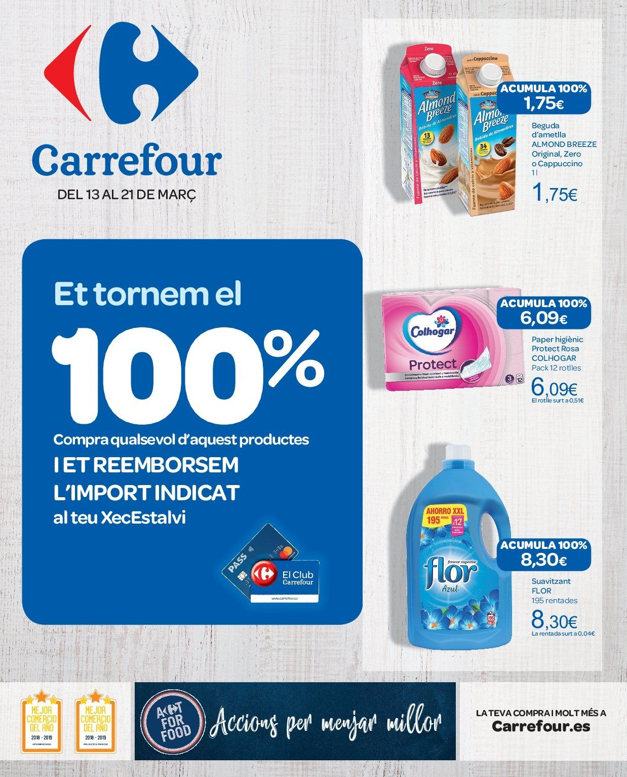 Folleto vigente Carrefour  - 13.3.2019 - 21.3.2019. Página 1.
