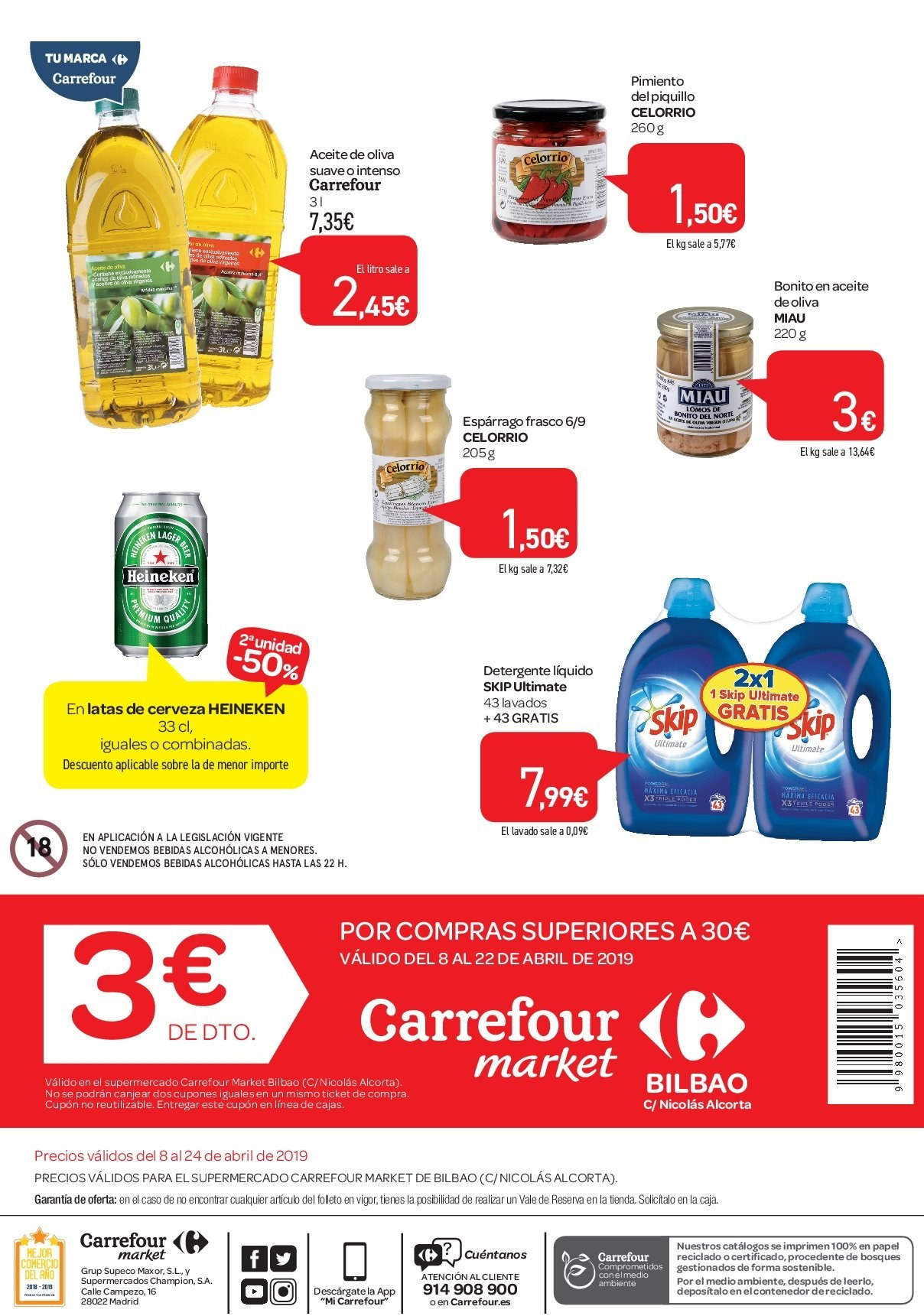 Folleto vigente Carrefour  - 8.4.2019 - 24.4.2019. Página 2.