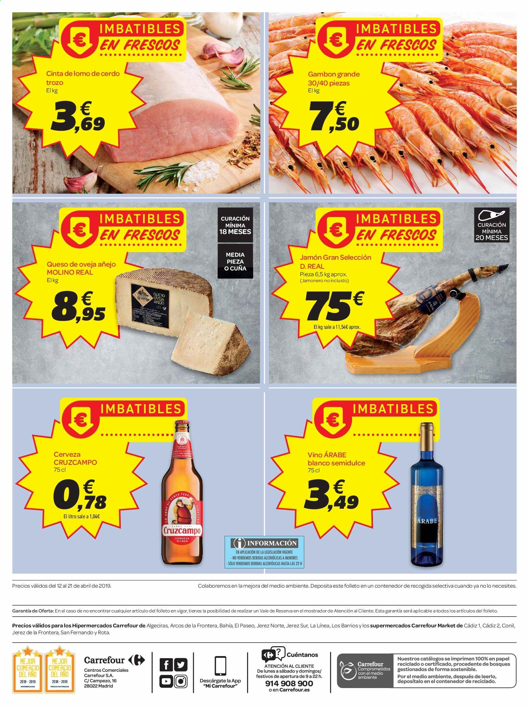 Folleto vigente Carrefour  - 12.4.2019 - 21.4.2019. Página 2.