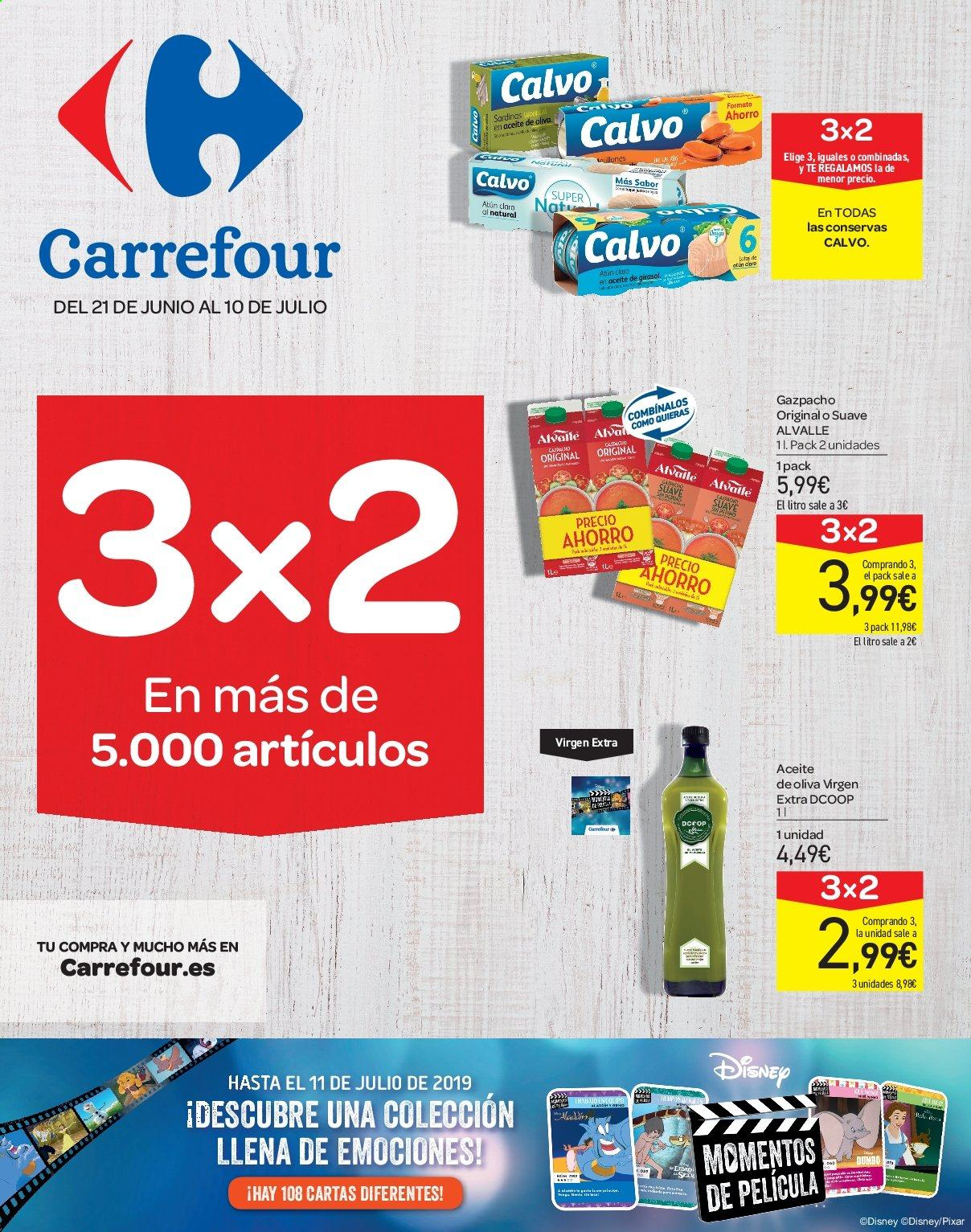 Folleto vigente Carrefour  - 21.6.2019 - 10.7.2019. Página 1.