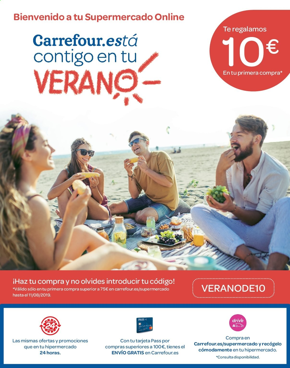Folleto vigente Carrefour  - 21.6.2019 - 10.7.2019. Página 12.