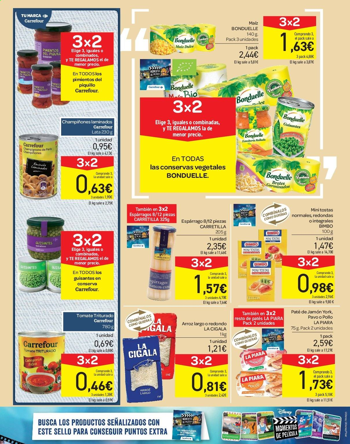 Folleto vigente Carrefour  - 21.6.2019 - 10.7.2019. Página 21.