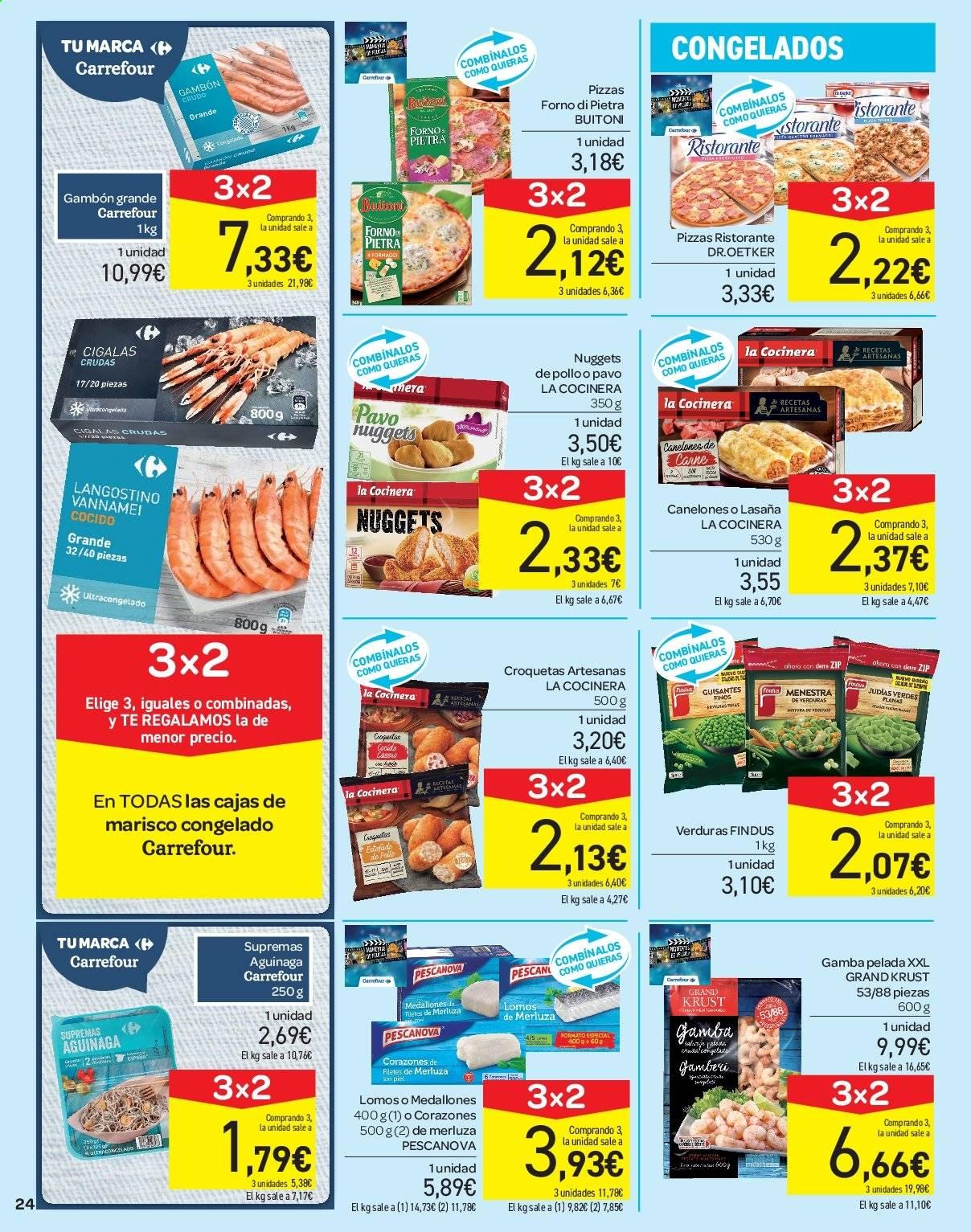Folleto vigente Carrefour  - 21.6.2019 - 10.7.2019. Página 24.