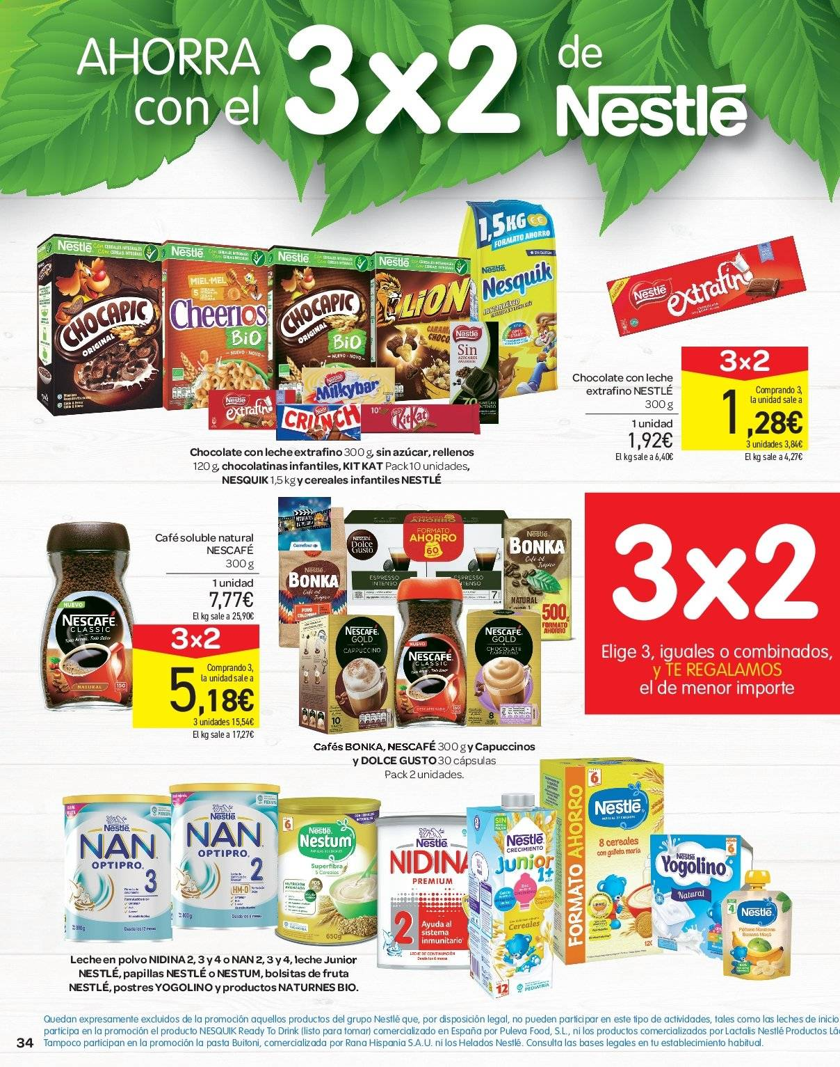 Folleto vigente Carrefour  - 21.6.2019 - 10.7.2019. Página 34.