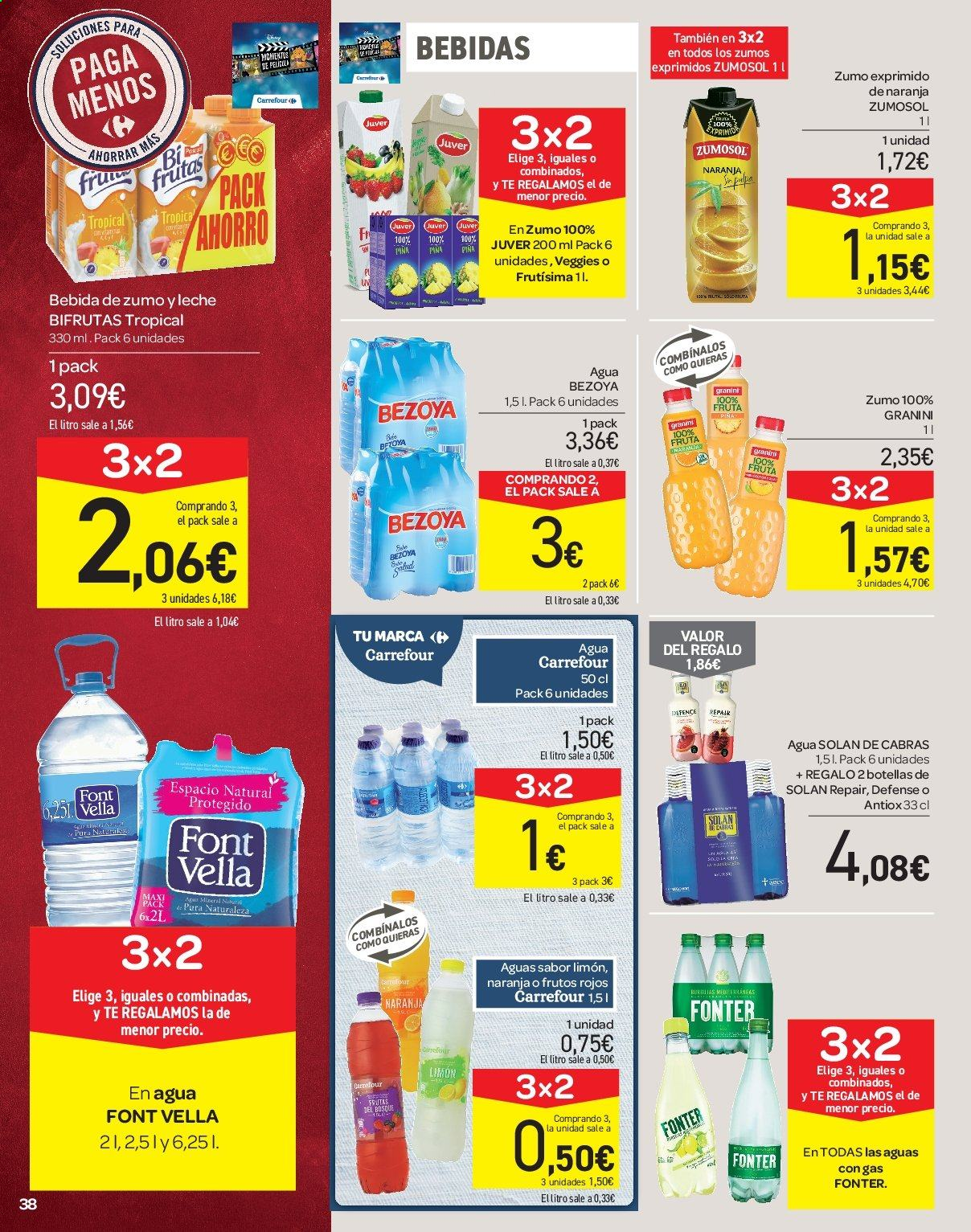 Folleto vigente Carrefour  - 21.6.2019 - 10.7.2019. Página 38.