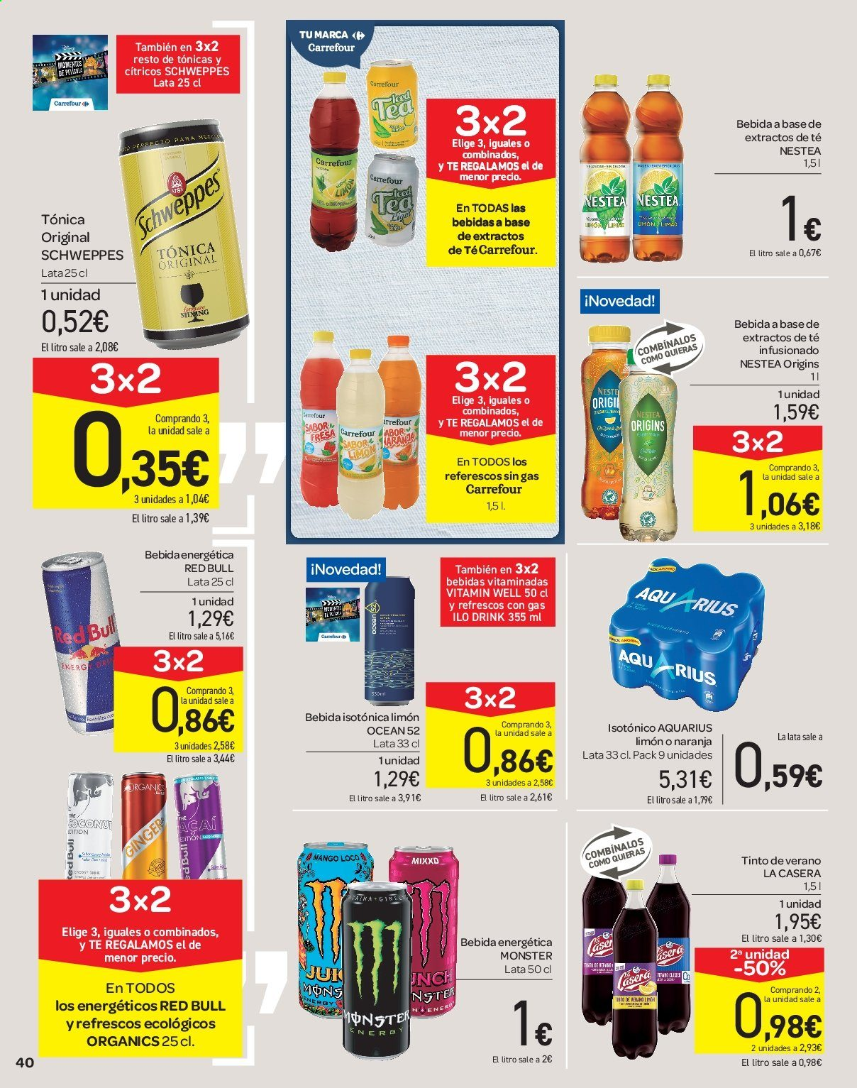 Folleto vigente Carrefour  - 21.6.2019 - 10.7.2019. Página 40.