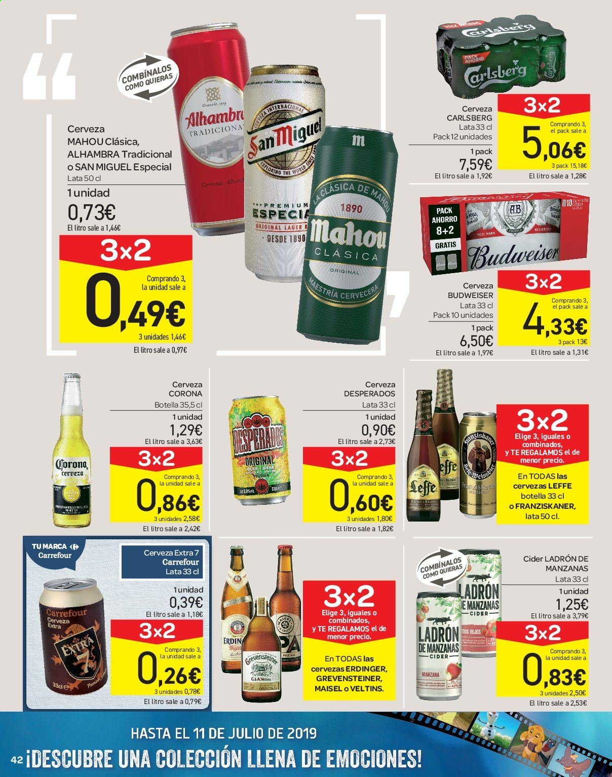 Folleto vigente Carrefour  - 21.6.2019 - 10.7.2019. Página 42.