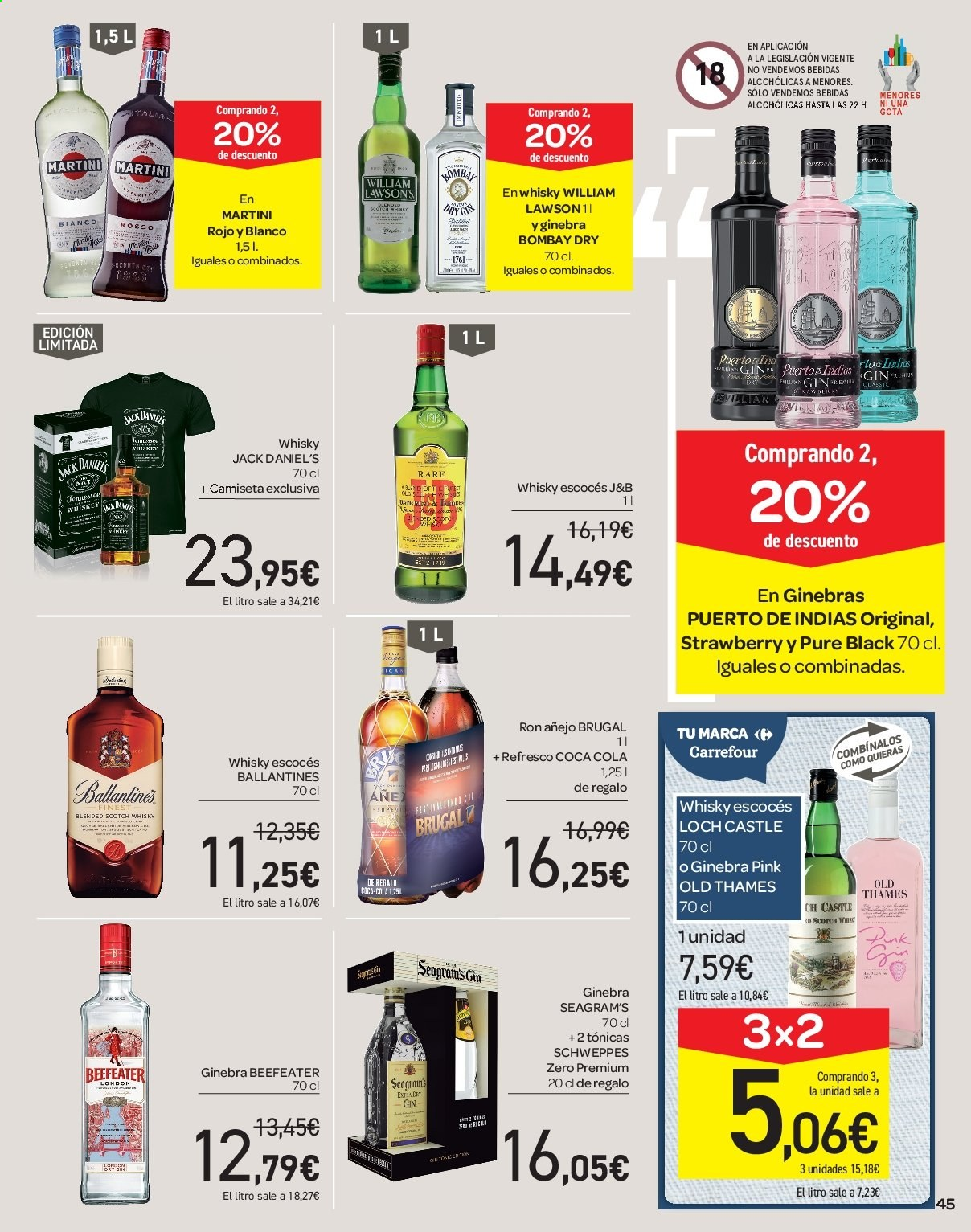 Folleto vigente Carrefour  - 21.6.2019 - 10.7.2019. Página 45.