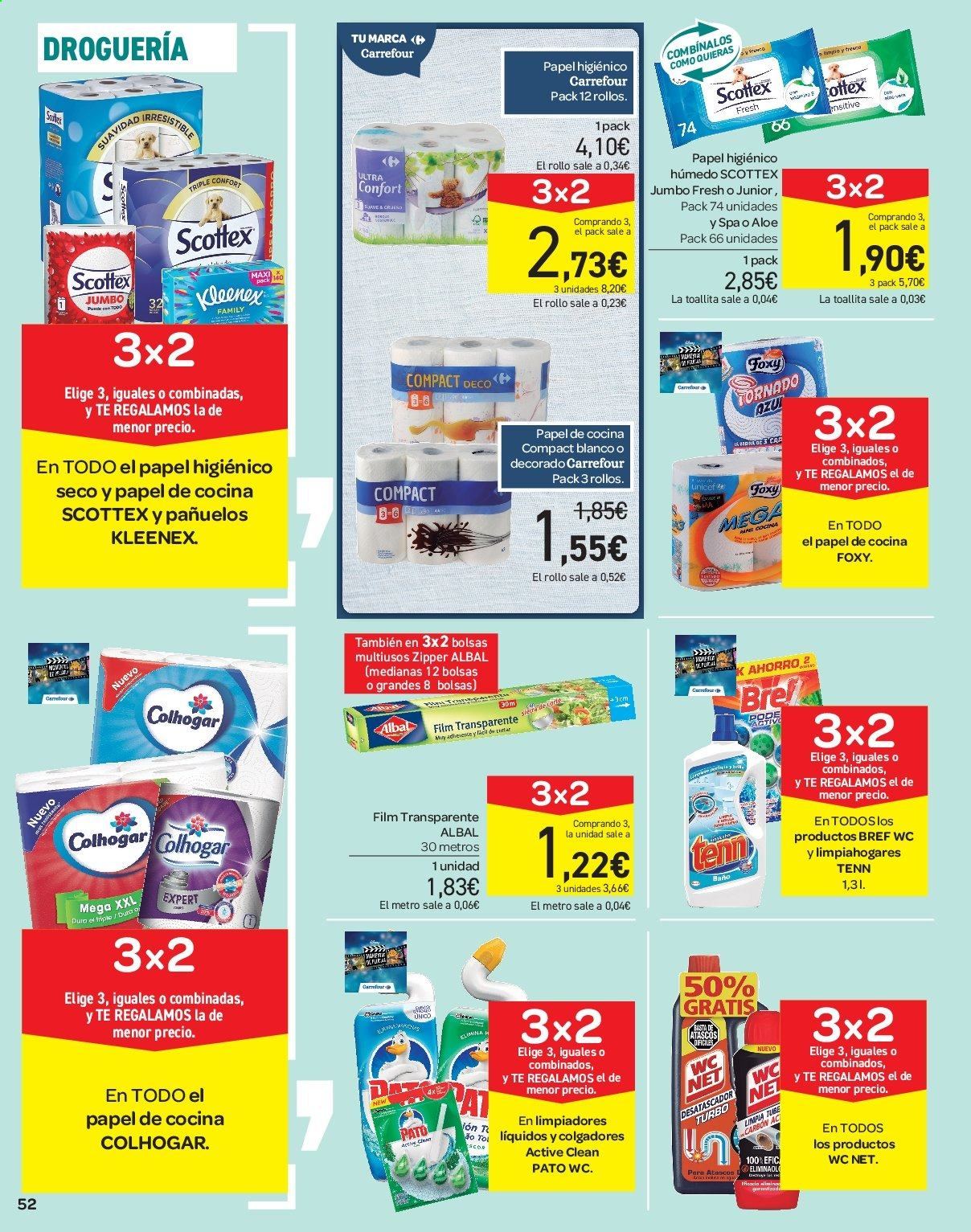 Folleto vigente Carrefour  - 21.6.2019 - 10.7.2019. Página 52.