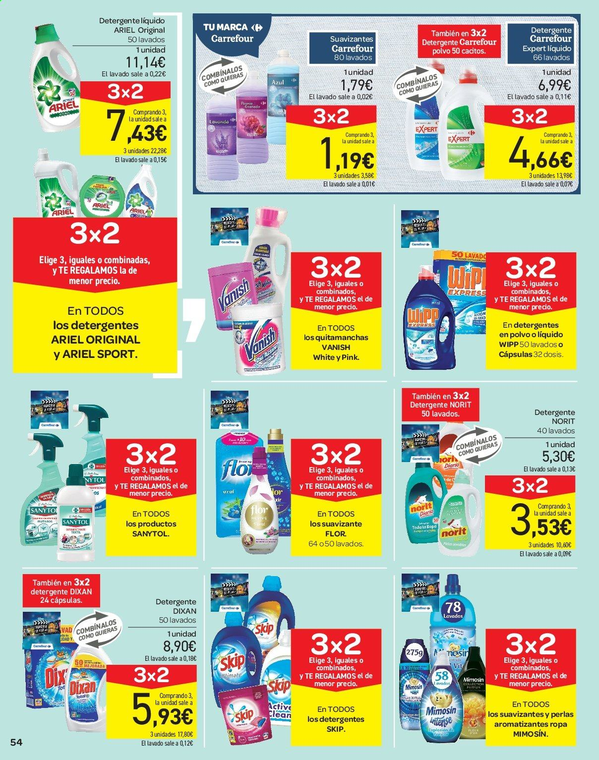 Folleto vigente Carrefour  - 21.6.2019 - 10.7.2019. Página 54.