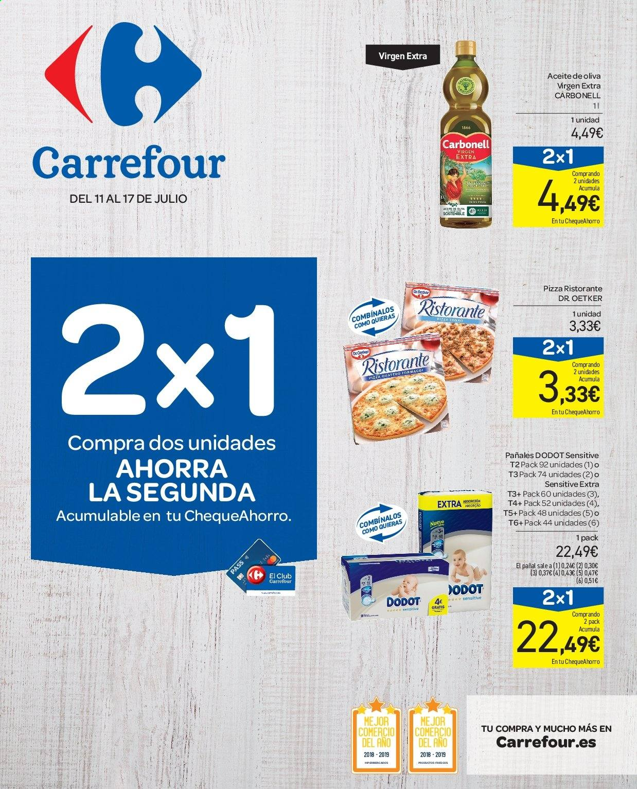 Folleto vigente Carrefour  - 11.7.2019 - 17.7.2019. Página 1.