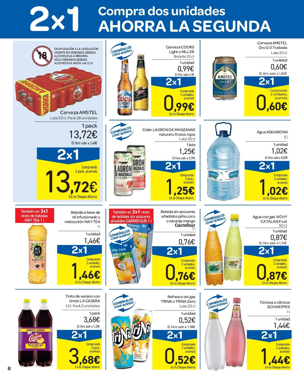 Folleto vigente Carrefour  - 11.7.2019 - 17.7.2019. Página 8.