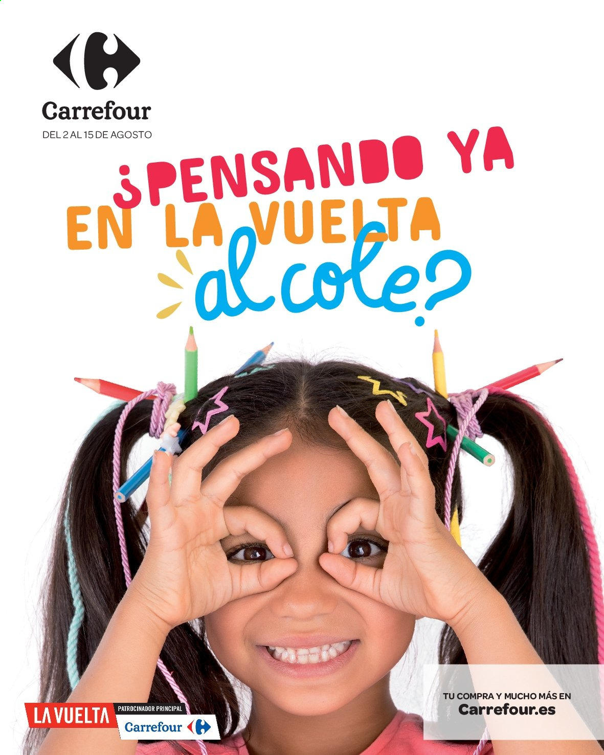 Folleto vigente Carrefour  - 2.8.2019 - 15.8.2019. Página 1.