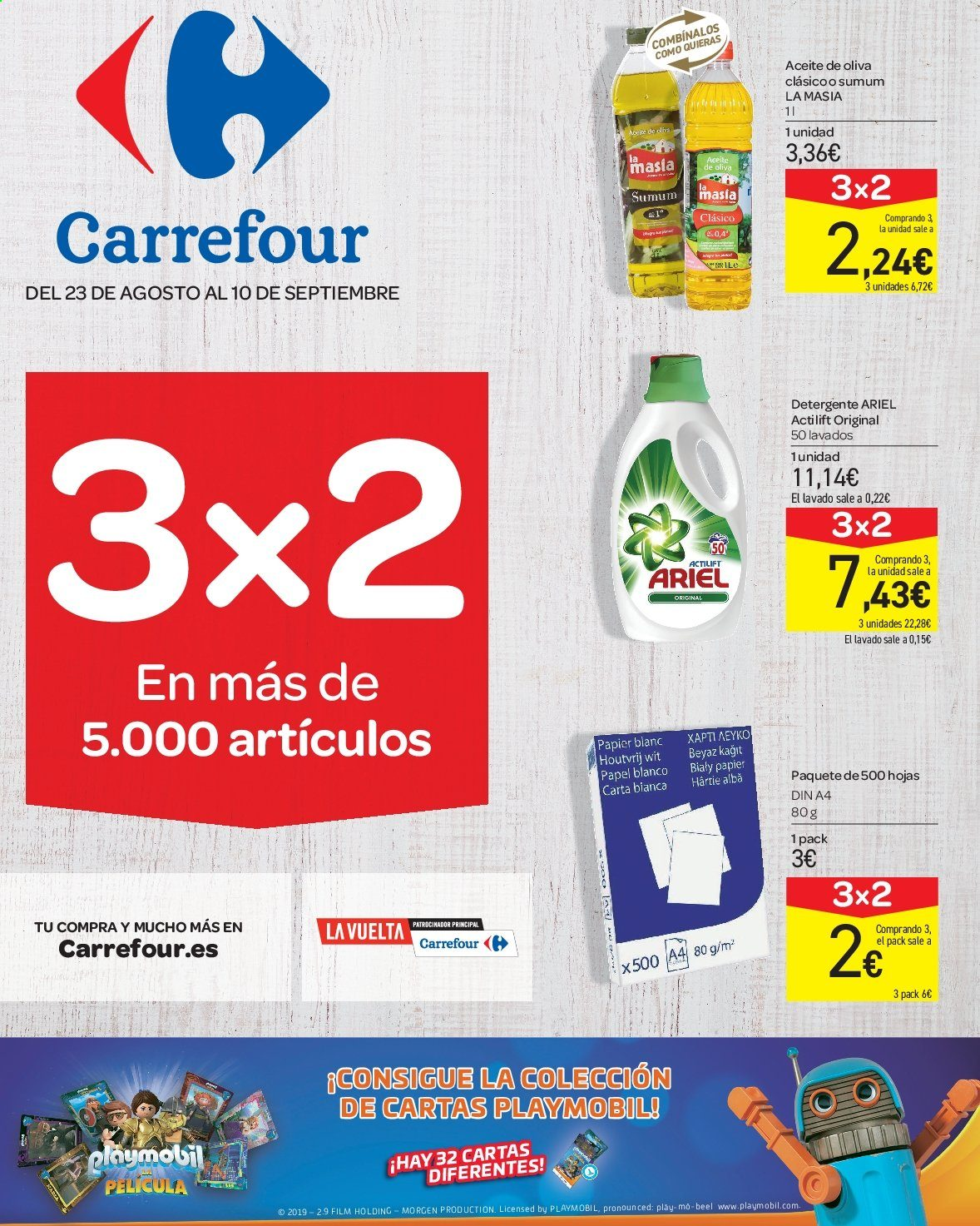 Folleto vigente Carrefour  - 23.8.2019 - 10.9.2019. Página 1.