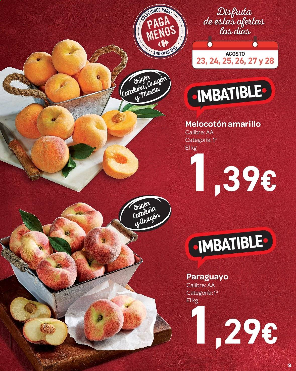 Folleto vigente Carrefour  - 23.8.2019 - 10.9.2019. Página 9.