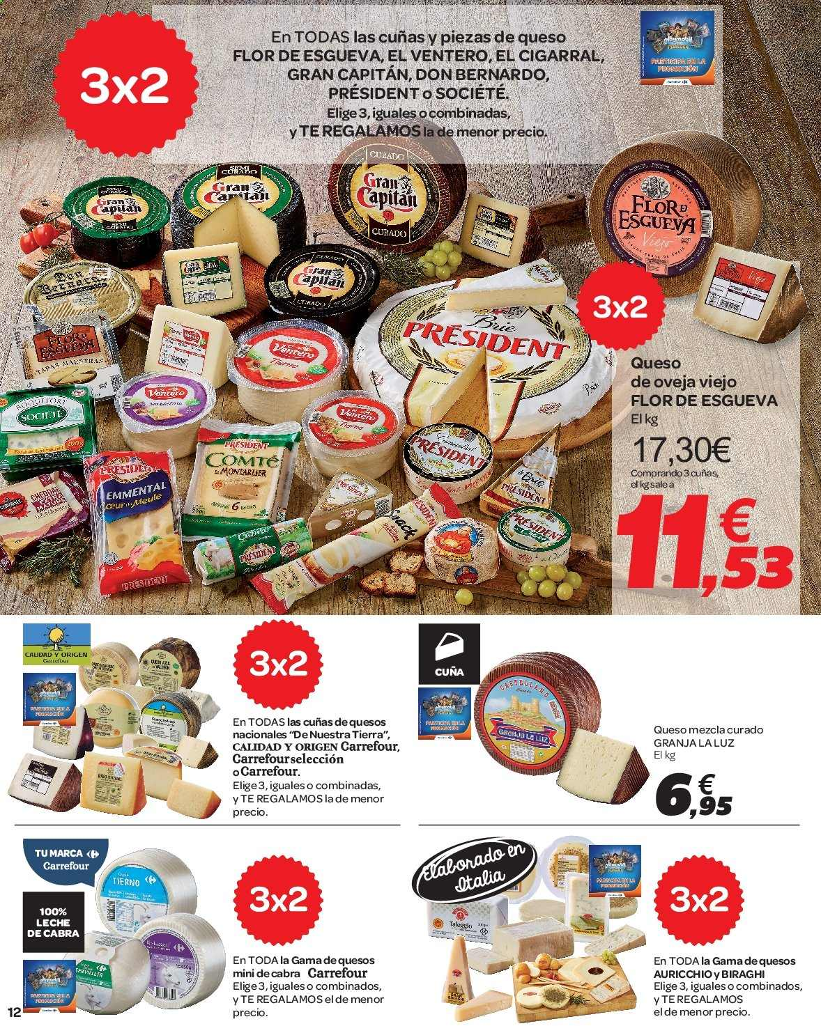 Folleto vigente Carrefour  - 23.8.2019 - 10.9.2019. Página 12.