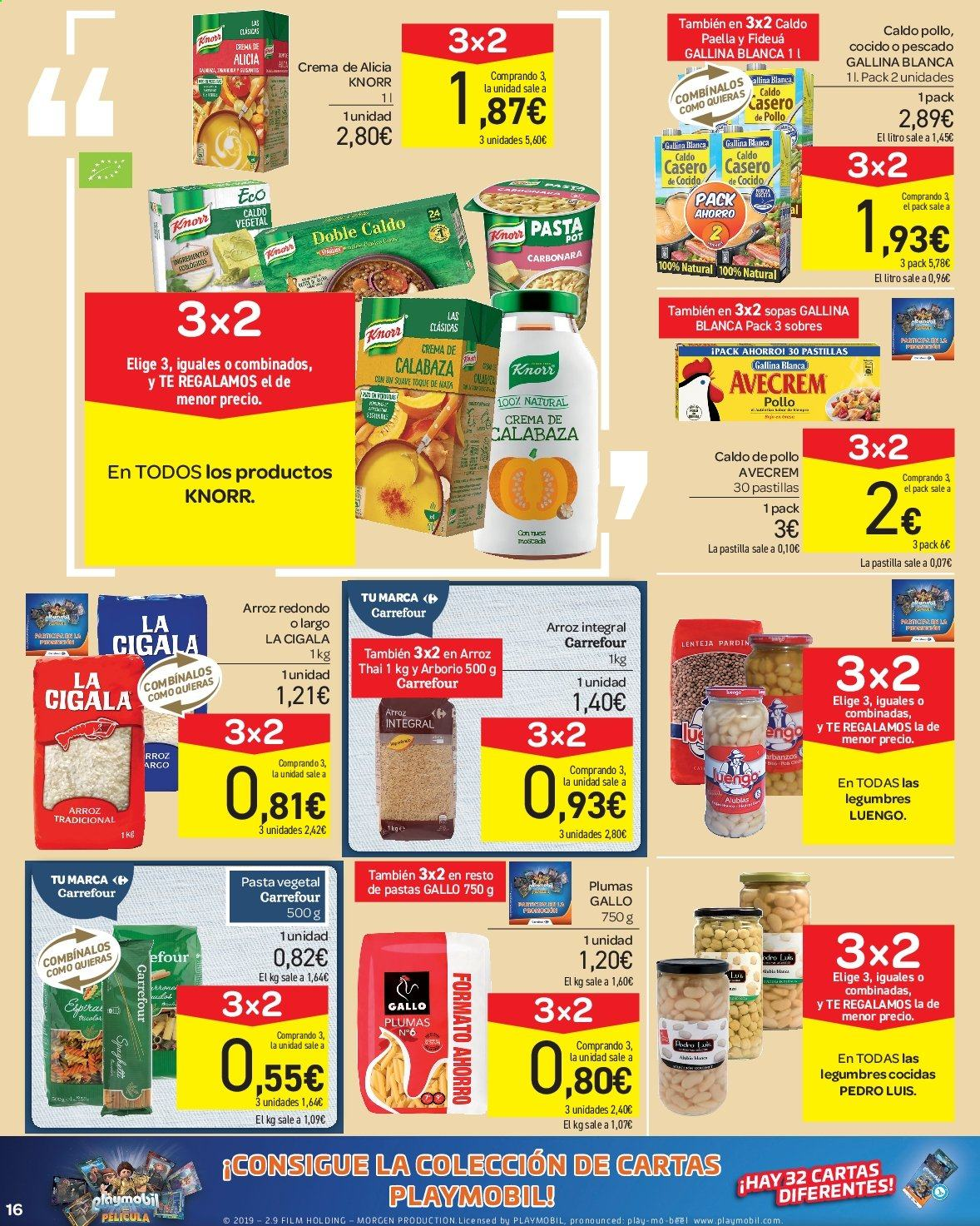 Folleto vigente Carrefour  - 23.8.2019 - 10.9.2019. Página 16.