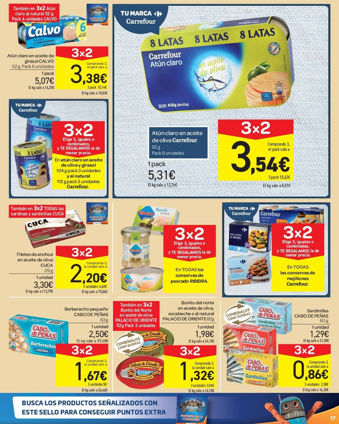 Folleto vigente Carrefour  - 23.8.2019 - 10.9.2019. Página 17.
