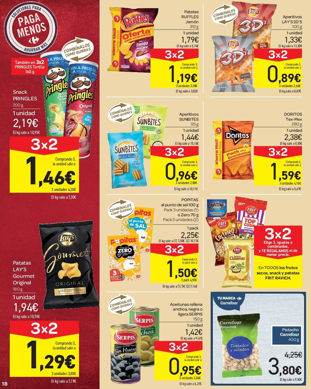 Folleto vigente Carrefour  - 23.8.2019 - 10.9.2019. Página 18.