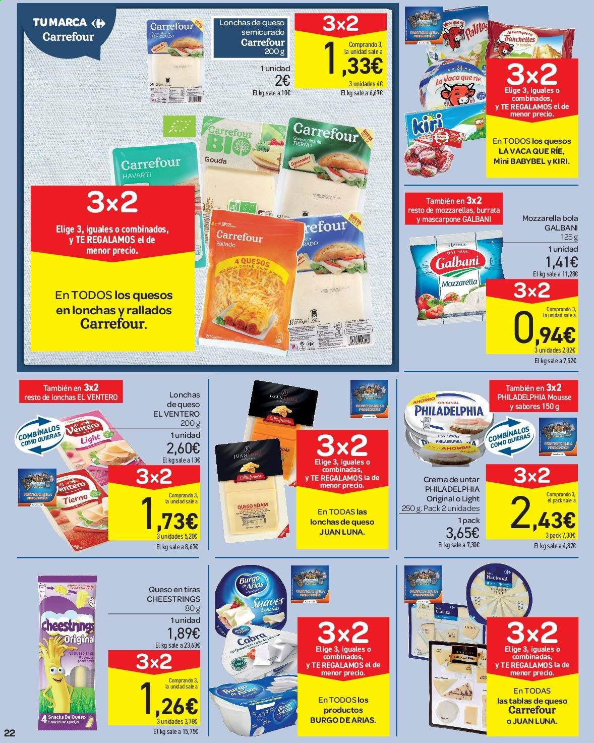 Folleto vigente Carrefour  - 23.8.2019 - 10.9.2019. Página 22.