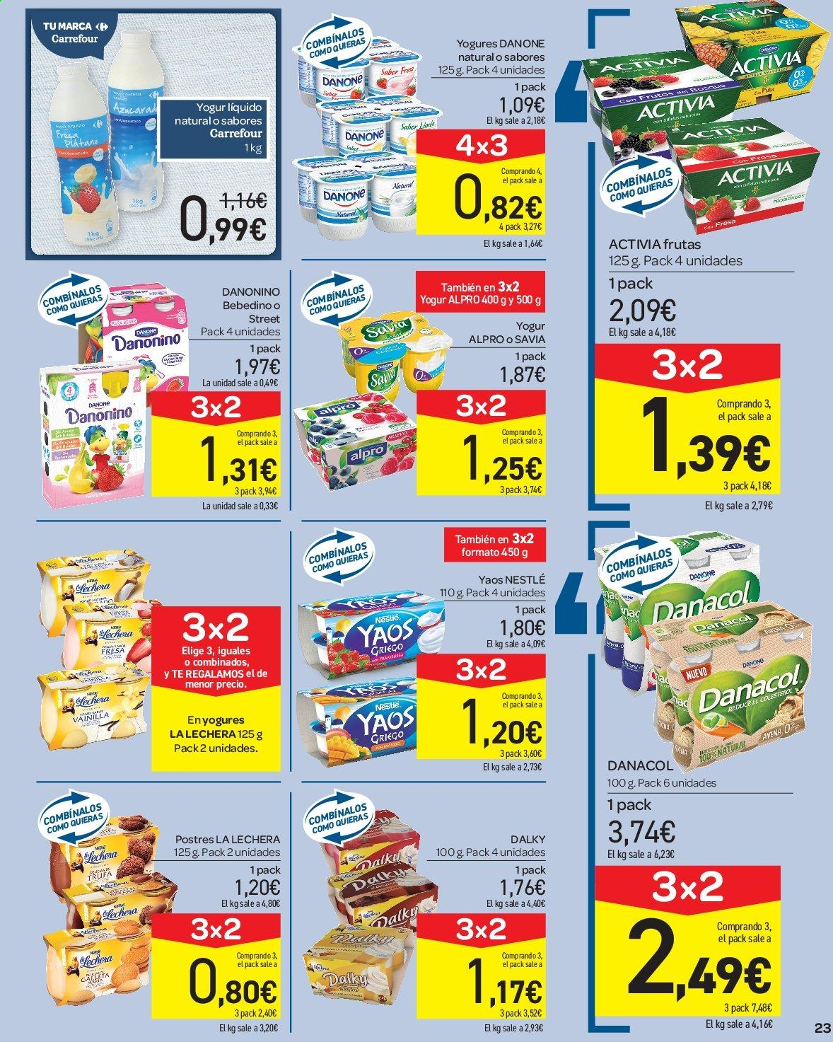 Folleto vigente Carrefour  - 23.8.2019 - 10.9.2019. Página 23.