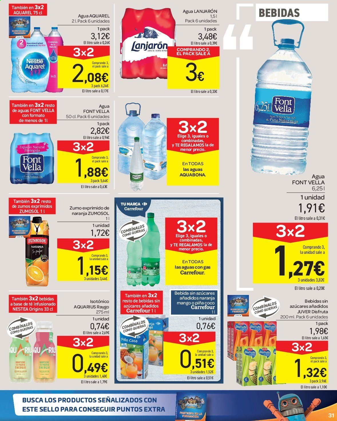 Folleto vigente Carrefour  - 23.8.2019 - 10.9.2019. Página 31.