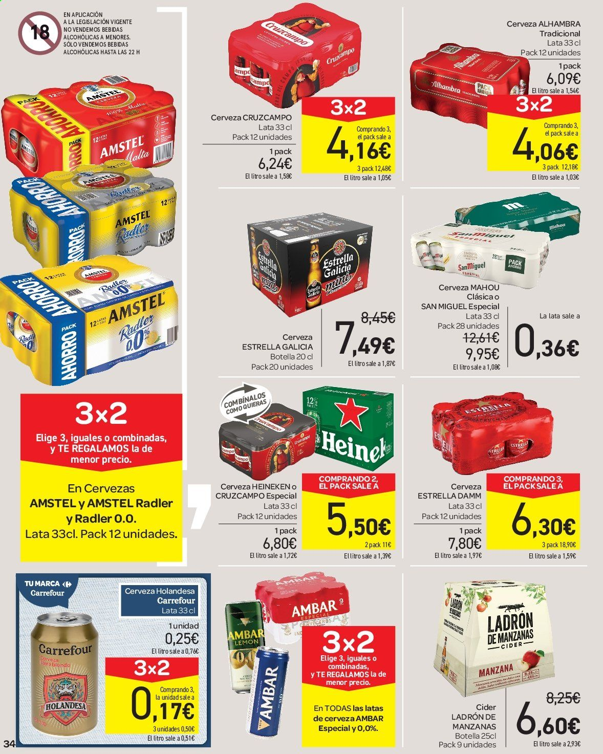 Folleto vigente Carrefour  - 23.8.2019 - 10.9.2019. Página 34.