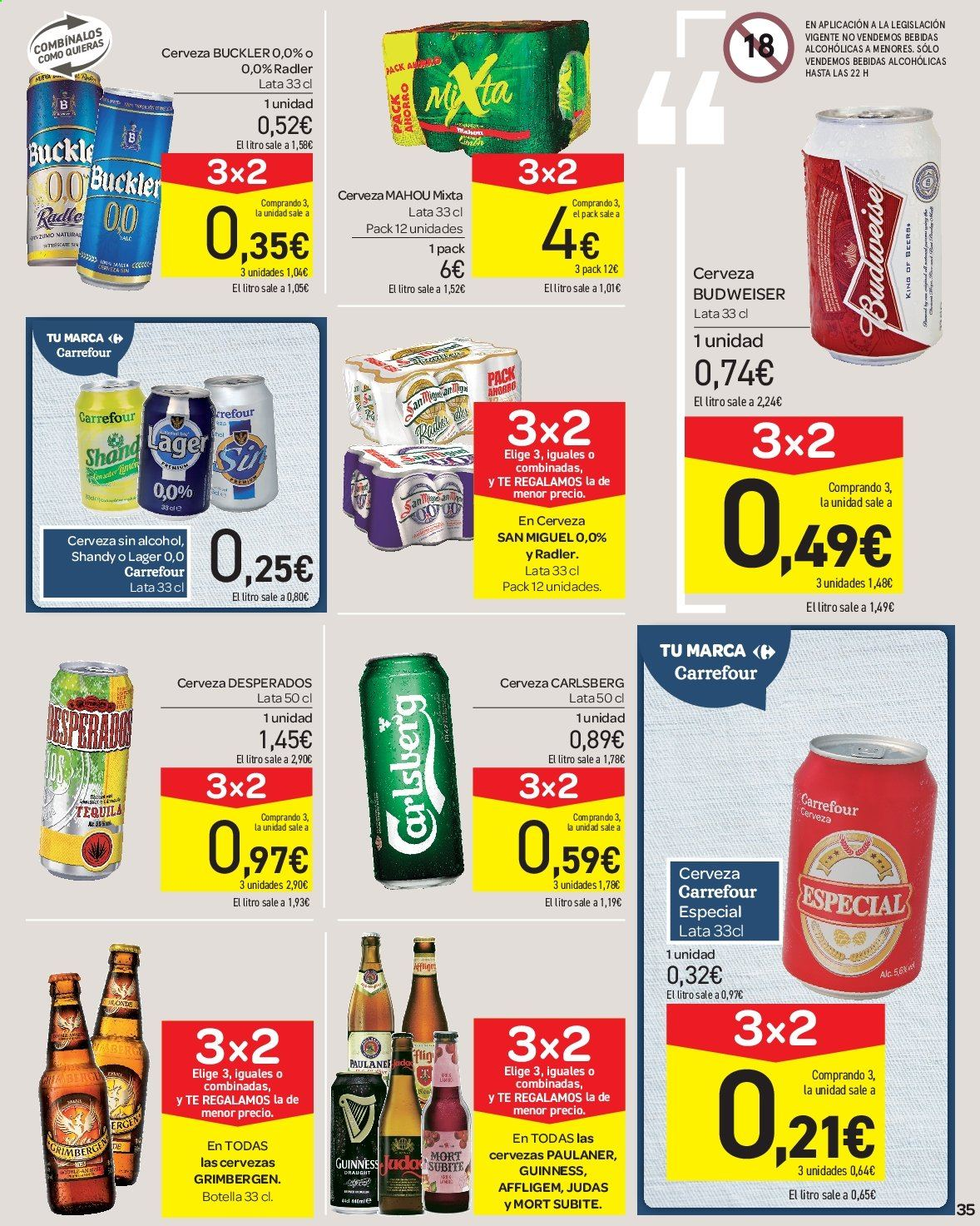 Folleto vigente Carrefour  - 23.8.2019 - 10.9.2019. Página 35.