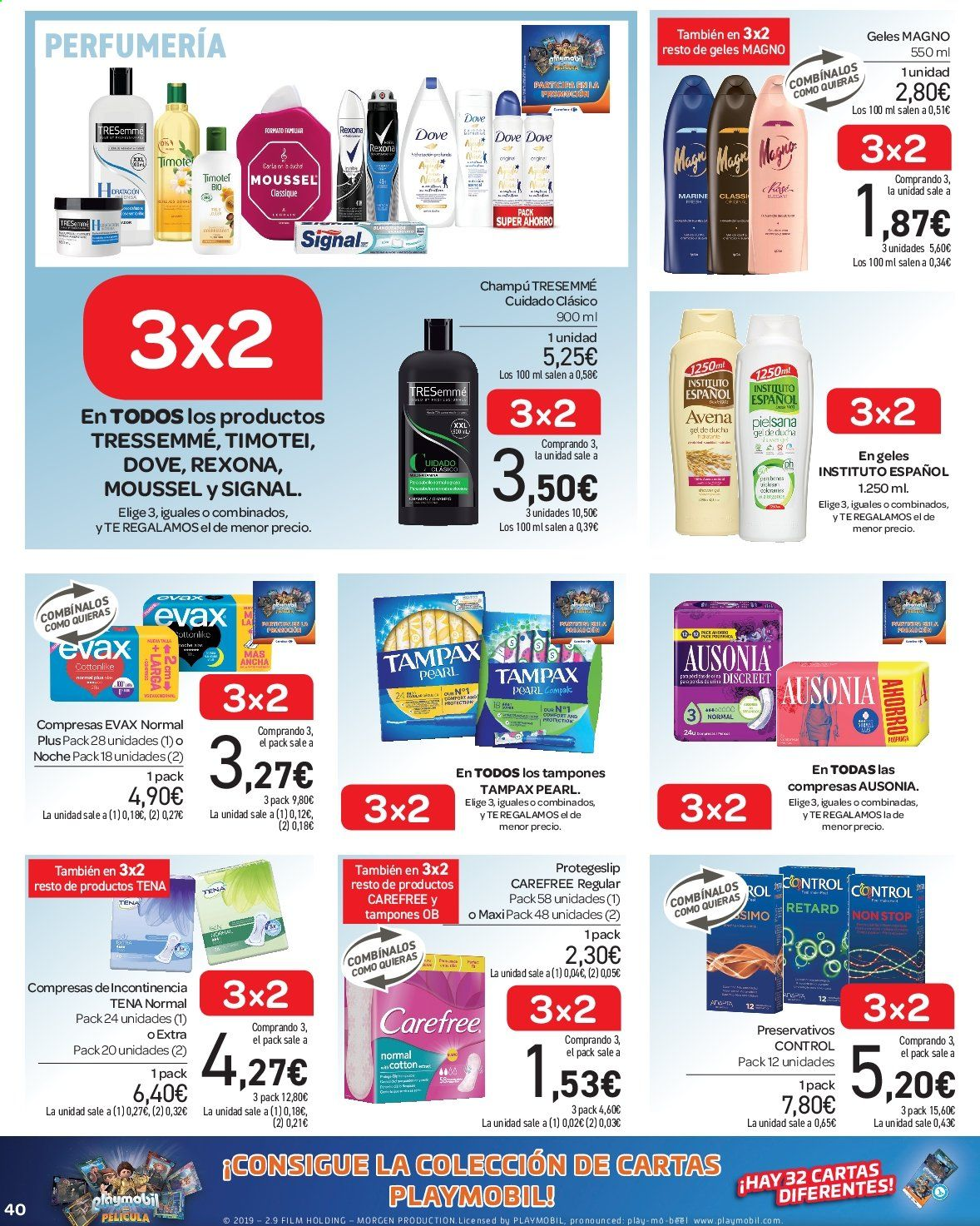 Folleto vigente Carrefour  - 23.8.2019 - 10.9.2019. Página 40.