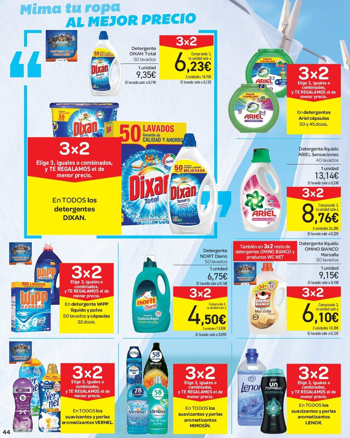 Folleto vigente Carrefour  - 23.8.2019 - 10.9.2019. Página 44.